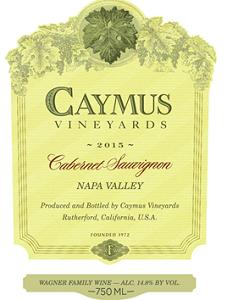 2015 Caymus Vineyards Cabernet Sauvignon Napa Valley